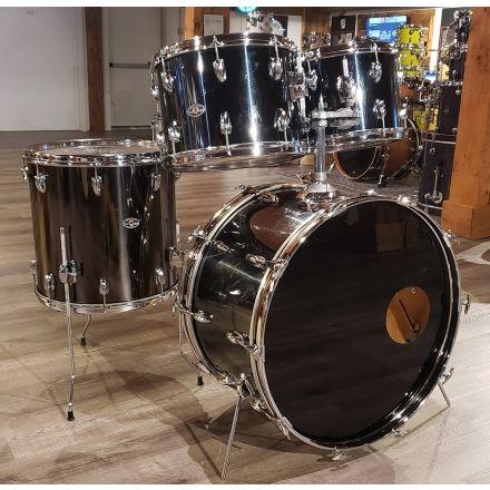 Used Slingerland 4pc Drum Set Black Chrome