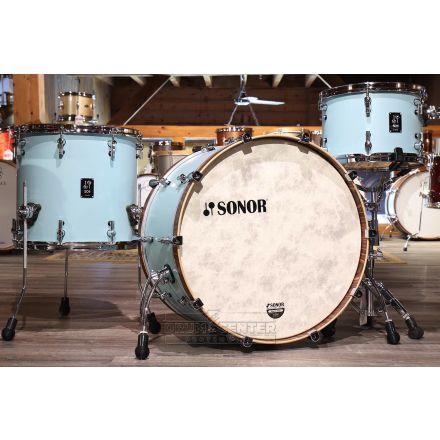 Sonor SQ1 3pc Drum Set 24/13/16 Cruiser Blue w/ Walnut Hoops
