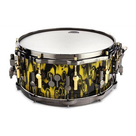 Sonor SQ2 Medium Beech Snare Drum 14x6.5 Tribal Yellow