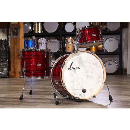 Sonor Vintage 3pc Rock Drum Set Vintage Red Oyster w/Tom Mount