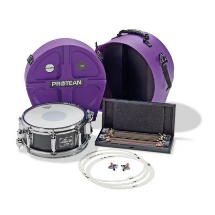 Sonor Signature Snare Drum Gavin Harrison Protean 12x5 Premium Pack w/ Case and Extra Wires