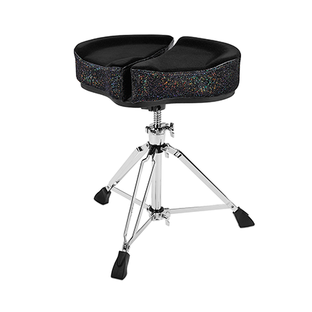 Ahead Spinal G Saddle Drum Throne Black Cloth Top/Black Sparkle Sides