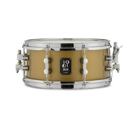 Sonor SQ1 Snare Drum 13x6 - Satin Gold Metallic