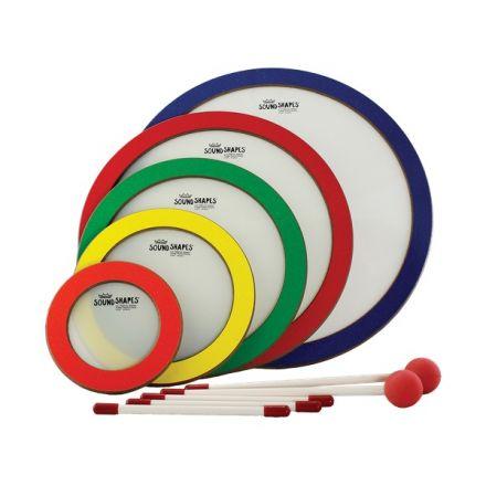 Remo Sound Shape, Circle Pack, 6/8.25/10.5/12.75/15, 5pc, Random Colors