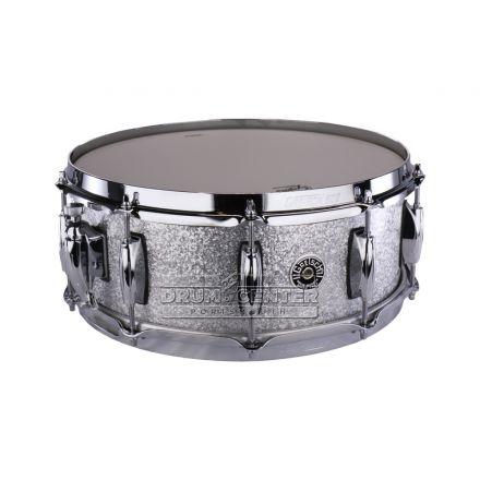 Gretsch Brooklyn Snare Drum - 14x5.5 - Silver Sparkle - 10 Lug w/ Lightning