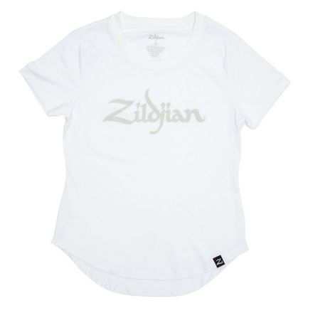 Zildjian Womens Logo Tee White - Large
