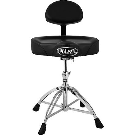 Mapex Saddle Top Drum Throne with Back Rest and with 4 Legs