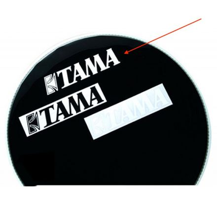 Tama Logo Decal Sticker White
