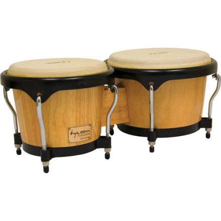 Tycoon Percussion 7 & 8 1/2 Artist Series Bongos - Natural Finish
