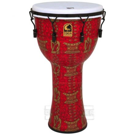 Toca Freestyle II Mechanically Tuned Djembe, Thinker 14 Inch with Matching Bag