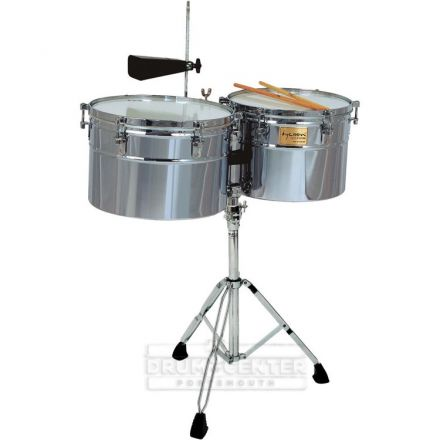 Tycoon Percussion 14 & 15 Extra-Deep Shell Timbales - Chrome Finish