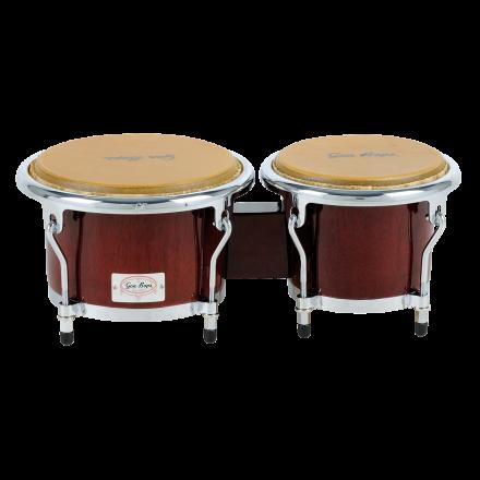 Gon Bops Bongos : Tumbao Pro Series : Tumbao Pro Bongo Walnut 7 & 8.5