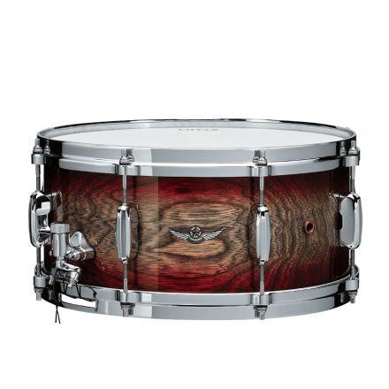Tama Star Walnut 14x6.5 Snare Drum - Garnet Japanese Sen Burst