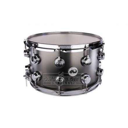 DW Collectors Series Satin Black Brass Snare Drum - 14x8 - Chrome Hardware