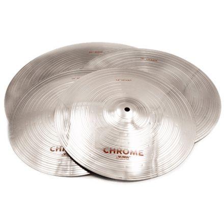 Wuhan 457 Chrome Cymbal Set 14/16/20