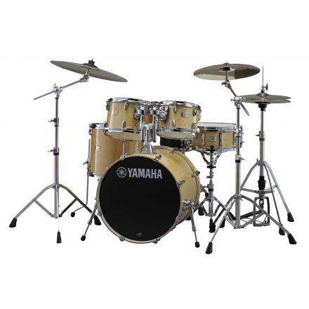 Yamaha Stage Custom Birch SBP0F56WNW Drum Set w/680 Hardware - Natural Wood