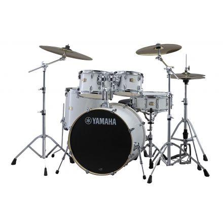 Yamaha Stage Custom Birch SBP0F56WPW Drum Set w/680 Hardware - Pure White