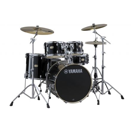 Yamaha Stage Custom Birch SBP0F56WRB Drum Set w/680 Hardware - Raven Black