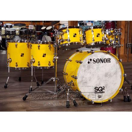 Sonor SQ2 6pc Drum Set Medium Maple - Signal Yellow