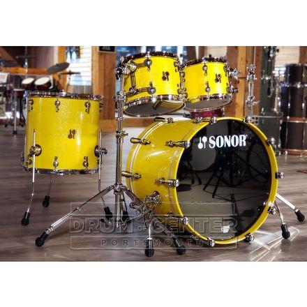Sonor SQ2 4pc Drum Set Medium Maple - Yellow Sparkle