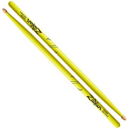 Zildjian 5A Acorn Wood Neon Yellow Drumsticks