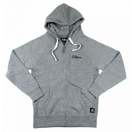 Zildjian Gray Zip Up Logo Hoodie XL
