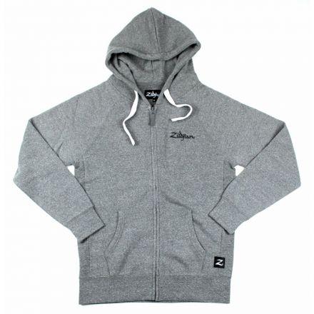Zildjian Gray Zip Up Logo Hoodie XS