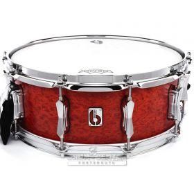 British Drum Company Legend Series Snare Drum 14x5.5 Buckingham Scarlett