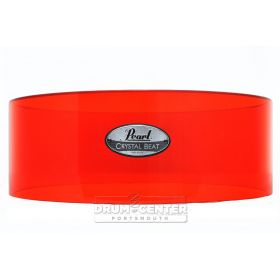 Pearl Crystal Beat Acrylic Free Floating Snare Shell 14x5 Ruby Red