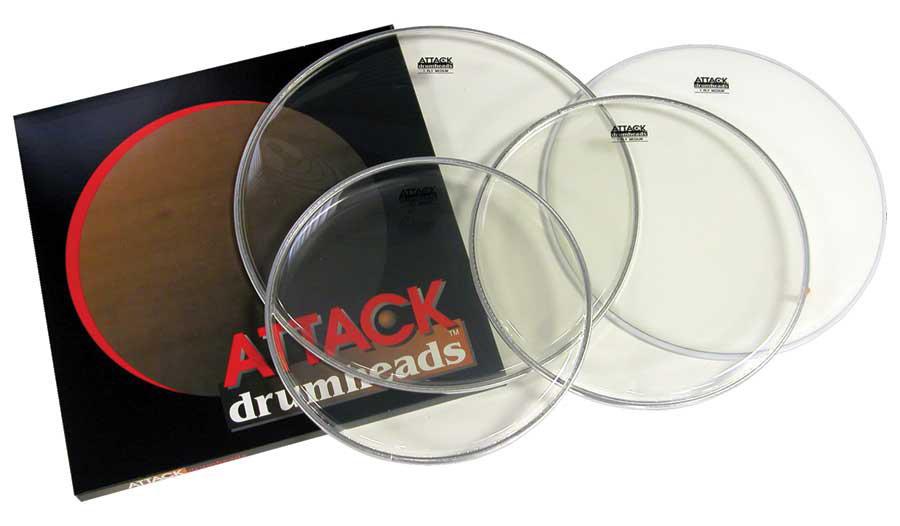 attack dharocki 1 ply med tom rock pack drum head 10 12 16 14 660181191722 ebay. Black Bedroom Furniture Sets. Home Design Ideas