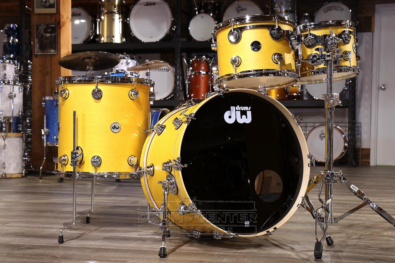 Dw Collectors Santa Monica 4pc Drum Set Satin Amber Oil Dcp