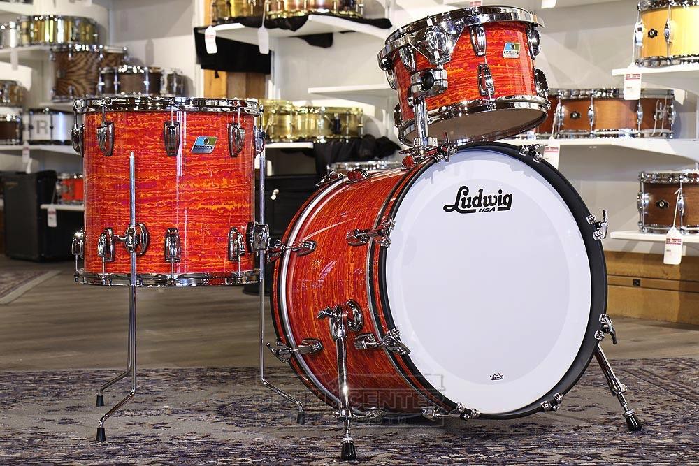 ludwig classic maple 3pc downbeat drum set mod orange ebay. Black Bedroom Furniture Sets. Home Design Ideas