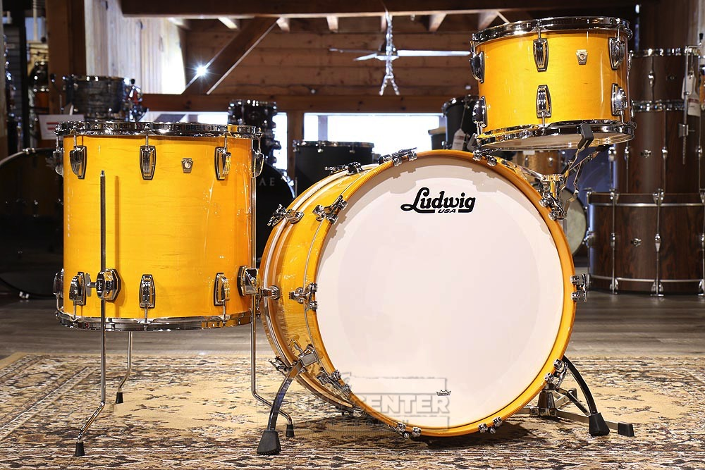 ludwig classic maple 3pc drum set golden slumbers ebay. Black Bedroom Furniture Sets. Home Design Ideas