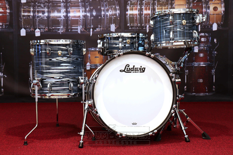 ludwig classic maple downbeat drum set blue strata w free snare video demo ebay. Black Bedroom Furniture Sets. Home Design Ideas