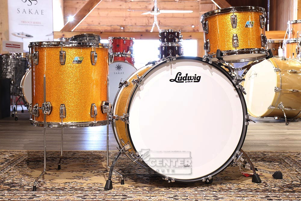 ludwig classic maple 3pc drum set gold sparkle video demo ebay. Black Bedroom Furniture Sets. Home Design Ideas