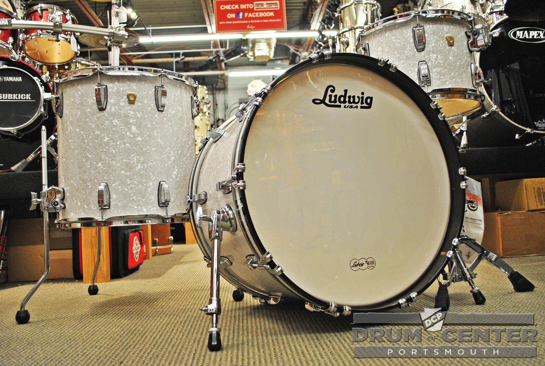 ludwig classic maple fab22 3pc drum set white marine pearl. Black Bedroom Furniture Sets. Home Design Ideas