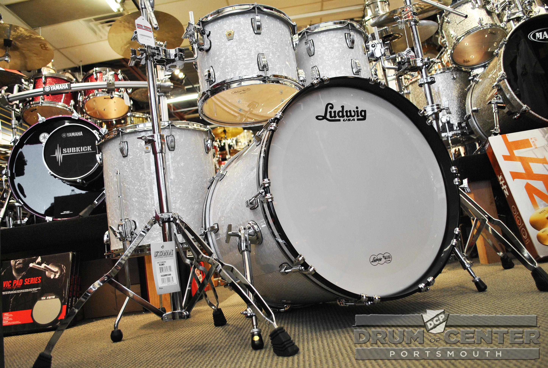 ludwig classic maple mod22 4pc drum set white marine pearl ebay. Black Bedroom Furniture Sets. Home Design Ideas