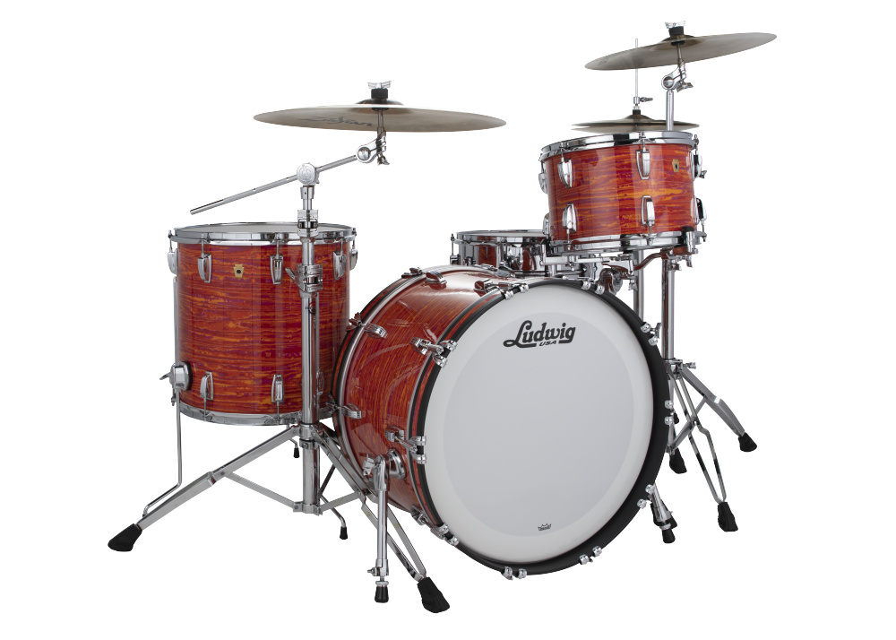 Ludwig Legacy Mahogany Fab Drum Set Mod Orange Dcp