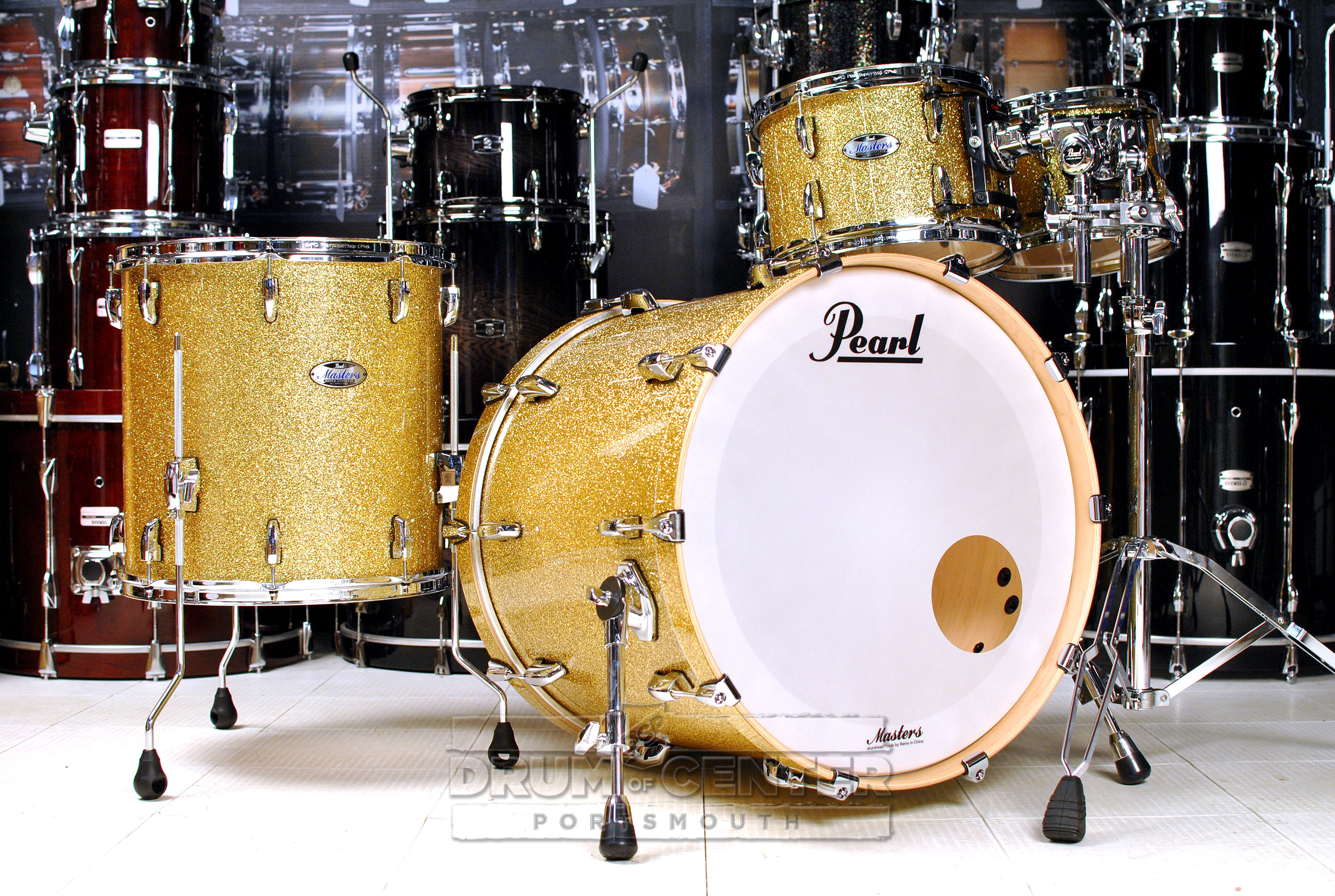 Pearl Masters Maple Complete 4pc Drum Set 22/10/12/16