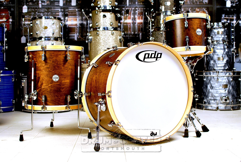 Pdp Concept Maple Classic 3pc Drum Set 24 13 16 Walnut W