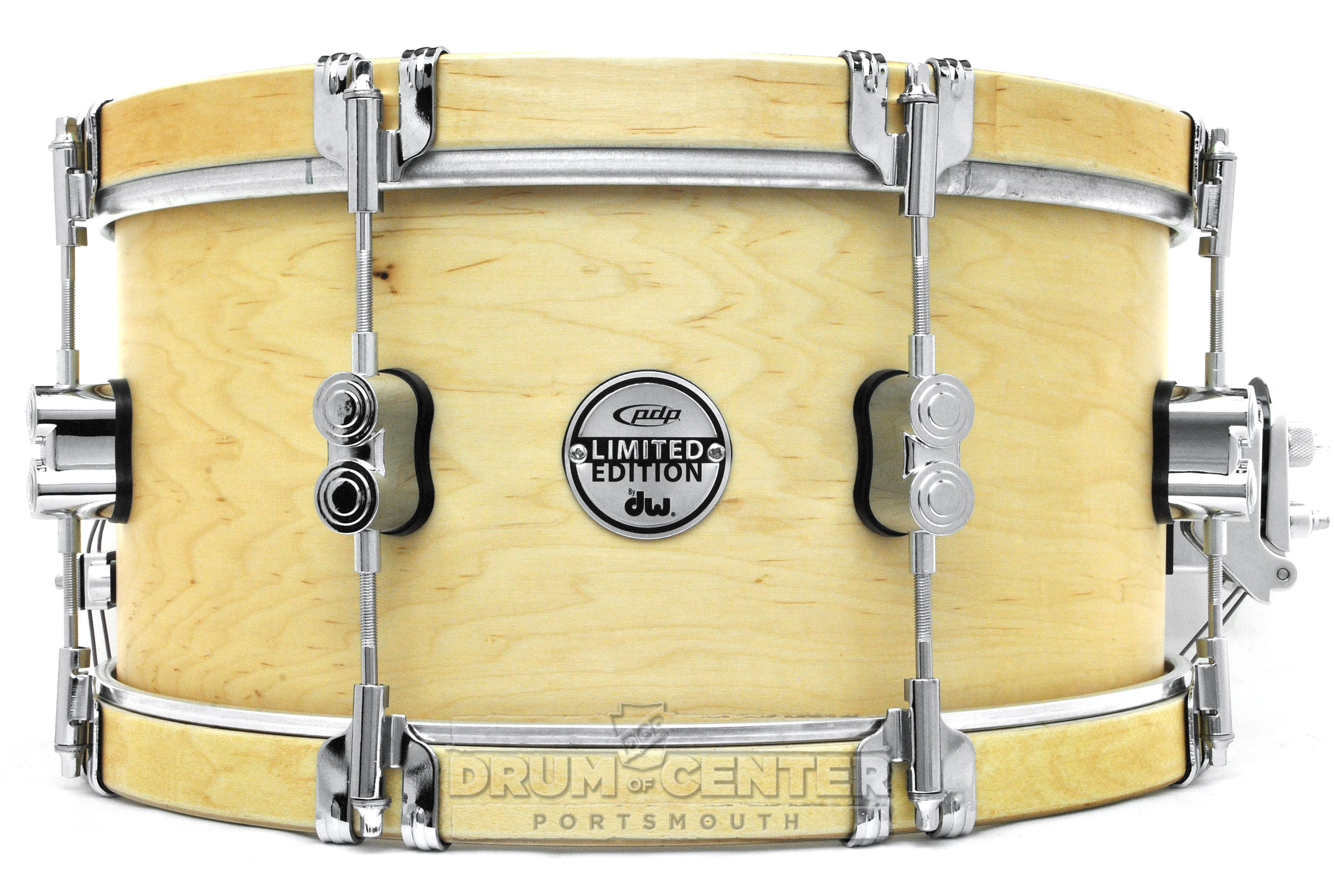 pdp limited maple classic wood hoop snare drum 14x7 pdsx0714clwh ebay. Black Bedroom Furniture Sets. Home Design Ideas