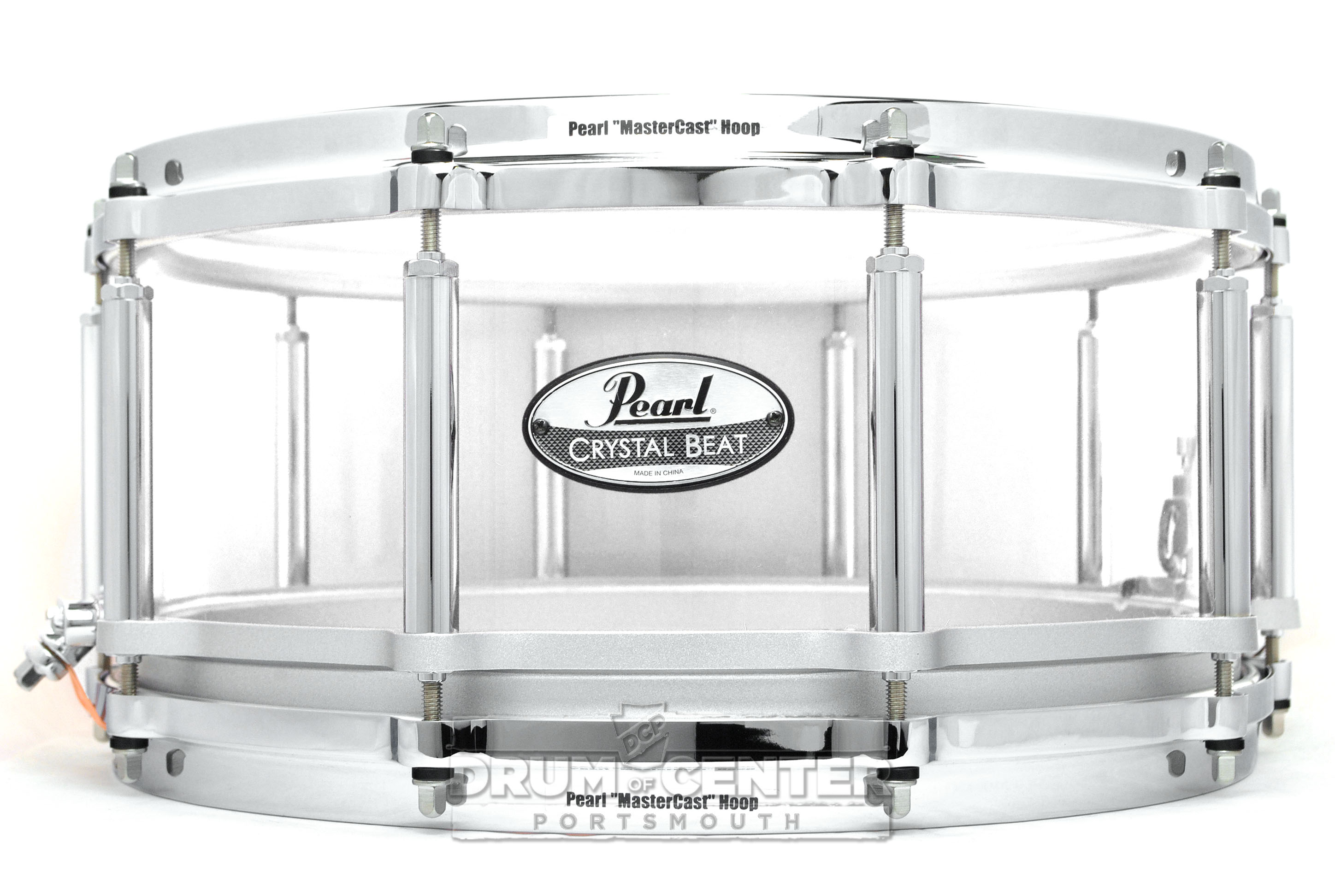 Pearl Crystal Beat Acrylic Free Floating Snare Drum 14x6.5 Ultra Clear CRB1465