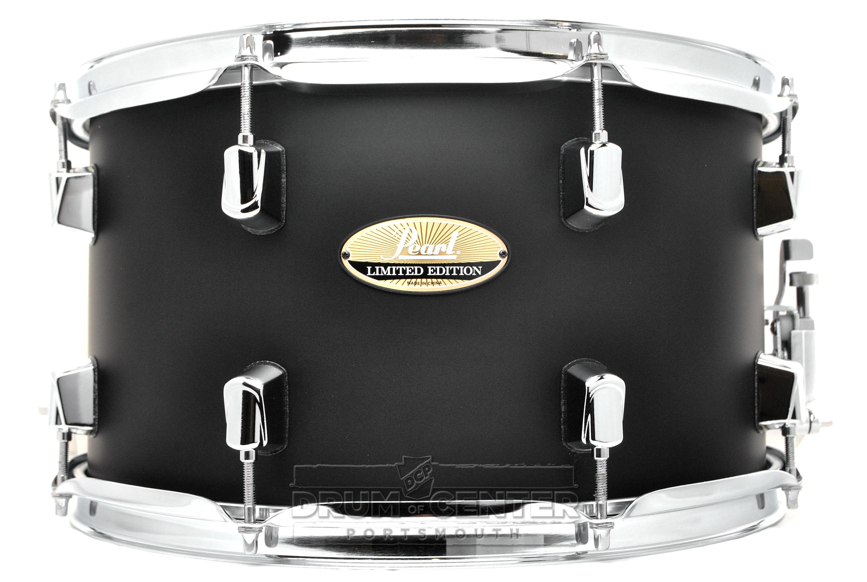 pearl limited edition maple snare drum 14x8 satin black lmp1480s c227 ebay. Black Bedroom Furniture Sets. Home Design Ideas