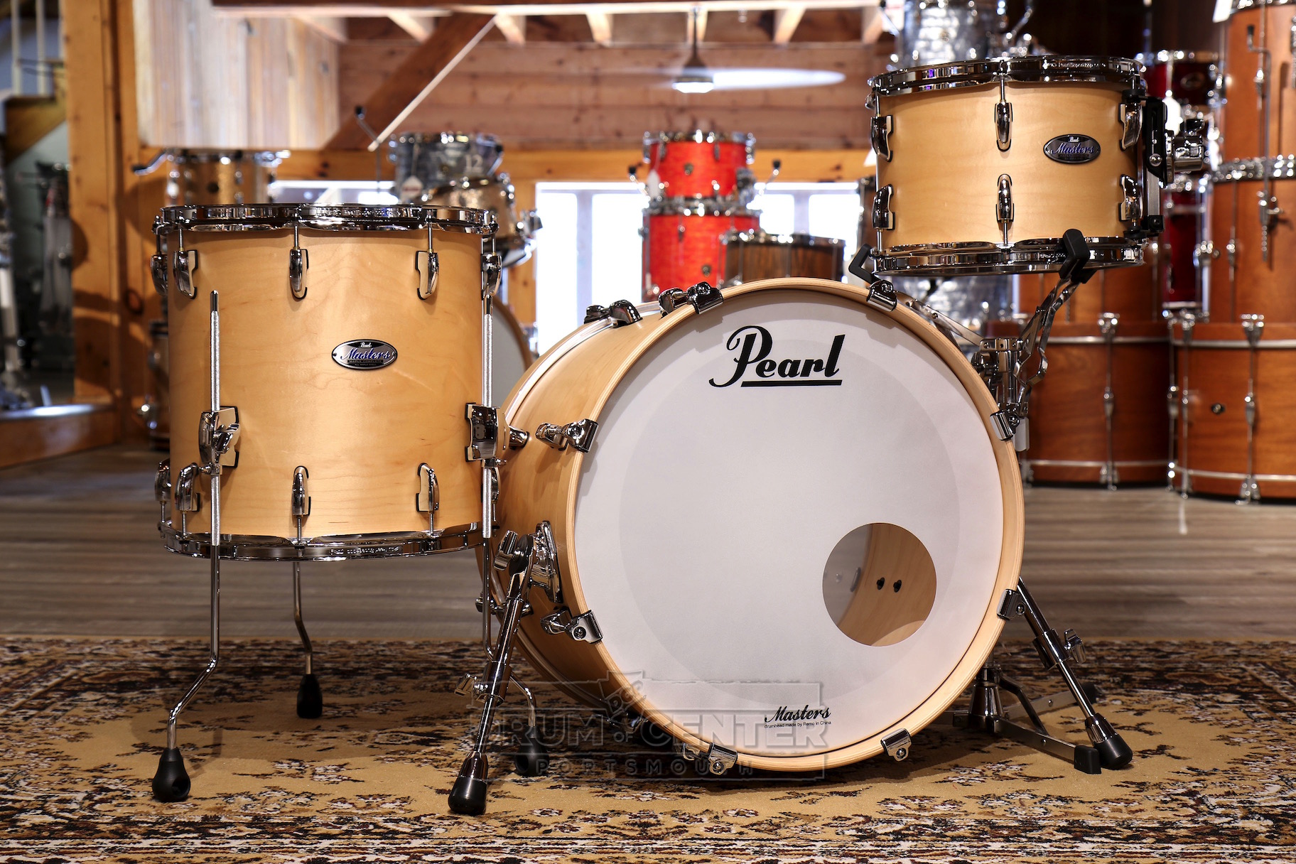 Pearl Masters Maple Complete 3pc Drum Set 20/12/14 Matte