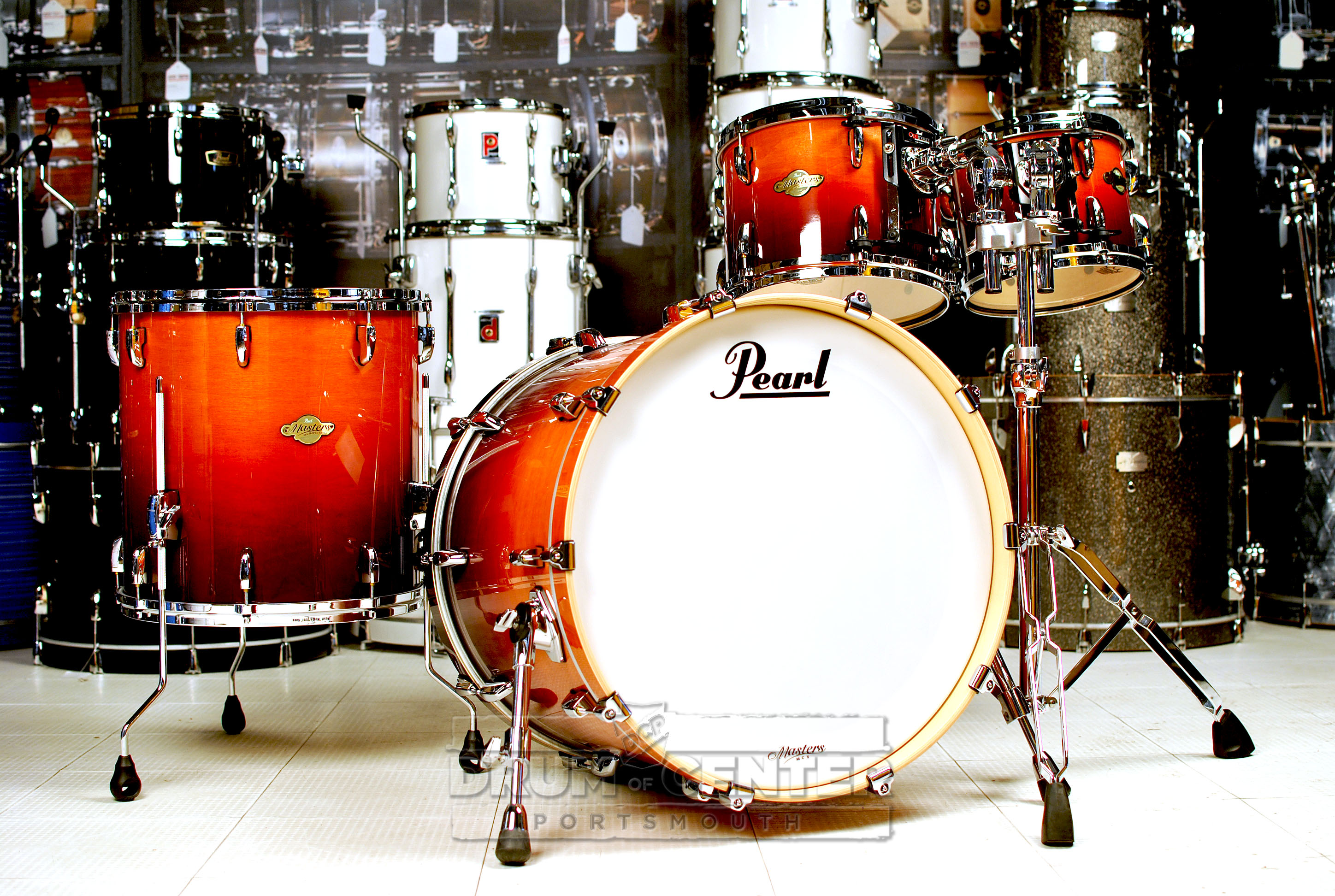 Pearl MCX 4pc Drum Set 22/10/12/16 Chestnut Fade