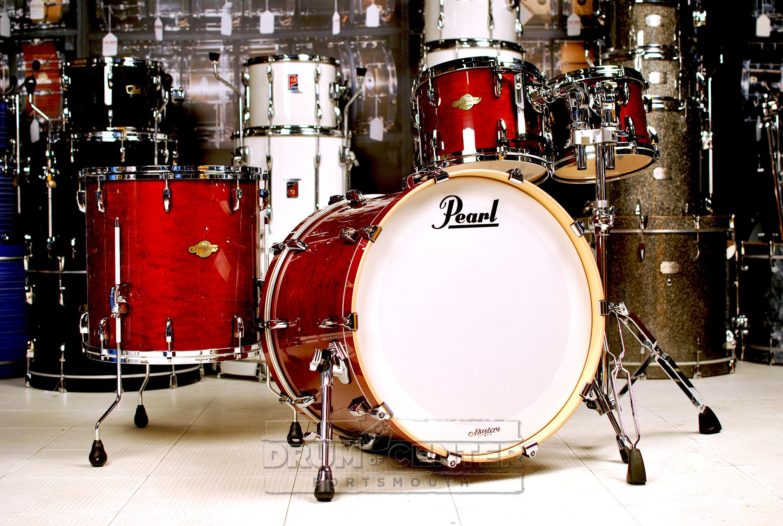 pearl mcx 4pc drum set 22 10 12 16 vintage wine mcx924xsp c280 ebay. Black Bedroom Furniture Sets. Home Design Ideas