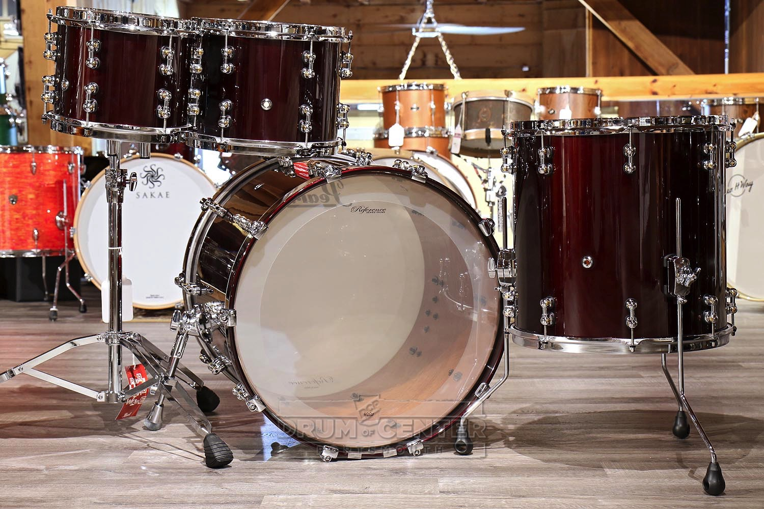 pearl reference pure 4pc drum set black cherry blowout deal 633816458125 ebay. Black Bedroom Furniture Sets. Home Design Ideas
