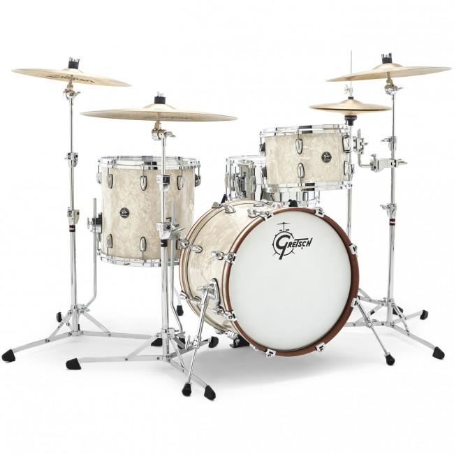 gretsch renown drum set 3pc 18 12 14 vintage perl finish rn2 j483 vp ebay. Black Bedroom Furniture Sets. Home Design Ideas