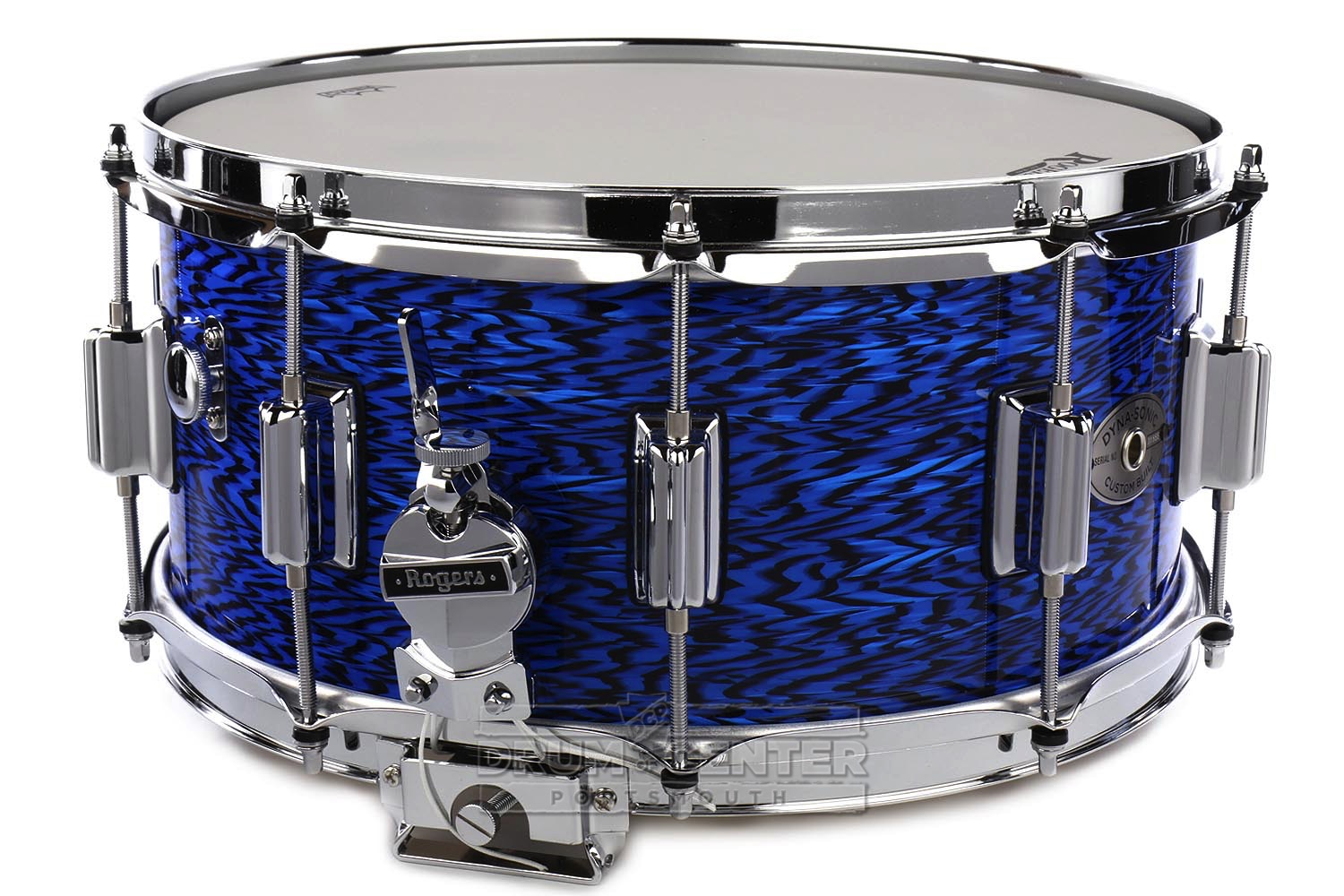 rogers dyna sonic wood shell snare drum 14x6 5 blue onyx 4718981036524 ebay. Black Bedroom Furniture Sets. Home Design Ideas