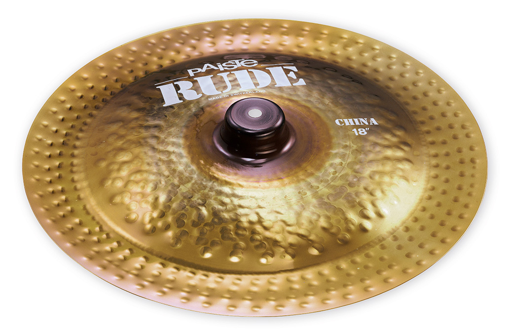 """Paiste 1128818 18/"""" Rude Series Wild China Cymbal With Integrated Bell Character"""
